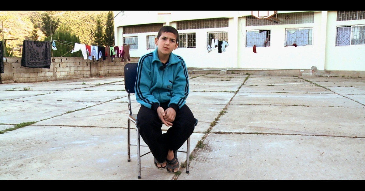 Hossam, 13, said he was tortured by Syrian security forces.</p>