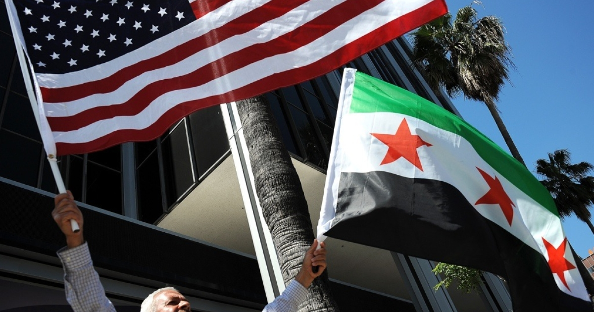 People attend a demonstration to ask for freedom in Syria on June 3, 2011 in Hollywood, Calif.</p>