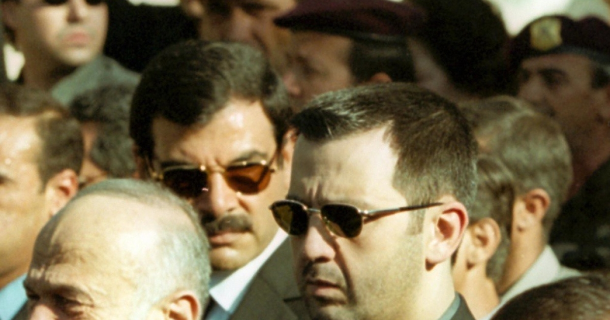 Maher al-Assad attends the funeral of late Syrian president Hafez al-Assad in Damascus on June 13, 2000. Maher is now leading his elite military units around the country to violently quell protests.</p>