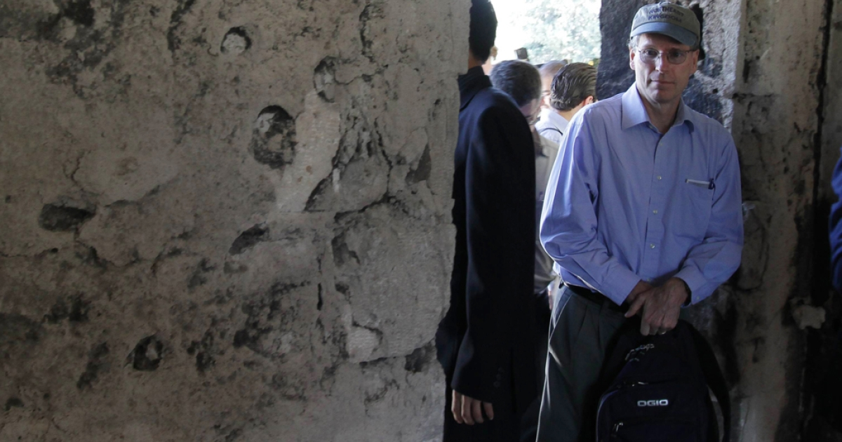 The US Ambassador to Syria, Robert Ford, on a guided government tour. Ford, who left Syria last October, is one of several Western diplomats declared officially unwelcome by the Syrian Foreign Ministry.</p>