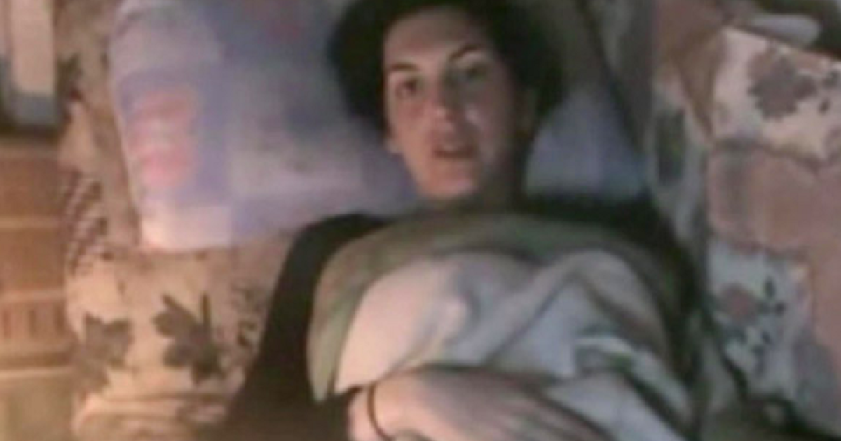 A still from a video posted on Youtube in which French journalist Edith Bouvier described her injuries and pleaded to be evacuated from the Syrian city of Homs</p>