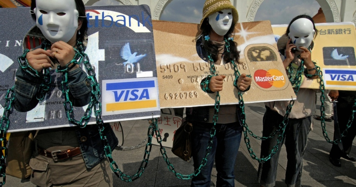 Local consumers in credit card debt, referred to as