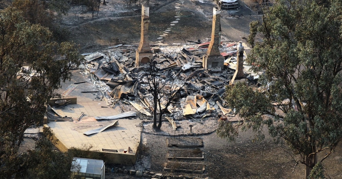 More than 100 buildings were destroyed in the wildfires that swept through southern Tasmania.</p>