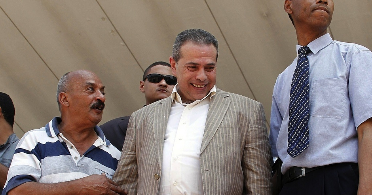 Tawfiq Okasha, owner of TV station al-Fareen, is on trial for denouncing Morsi and the Muslim Brotherhood.</p>