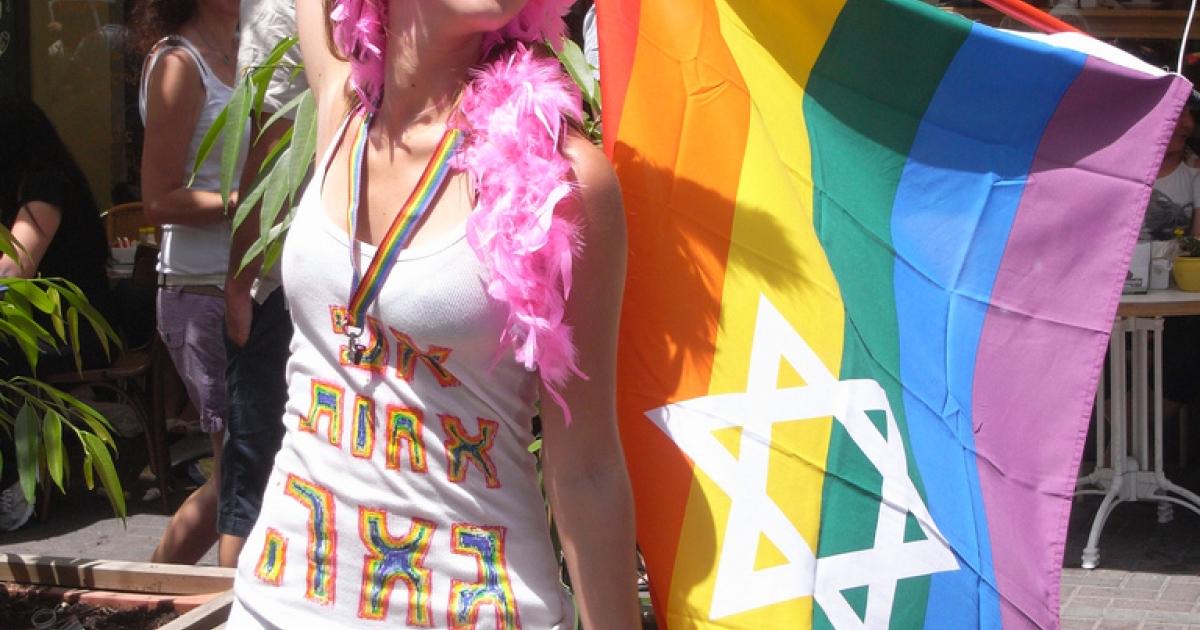 A reveler at last year's gay pride parade in Tel Aviv, Israel.</p>