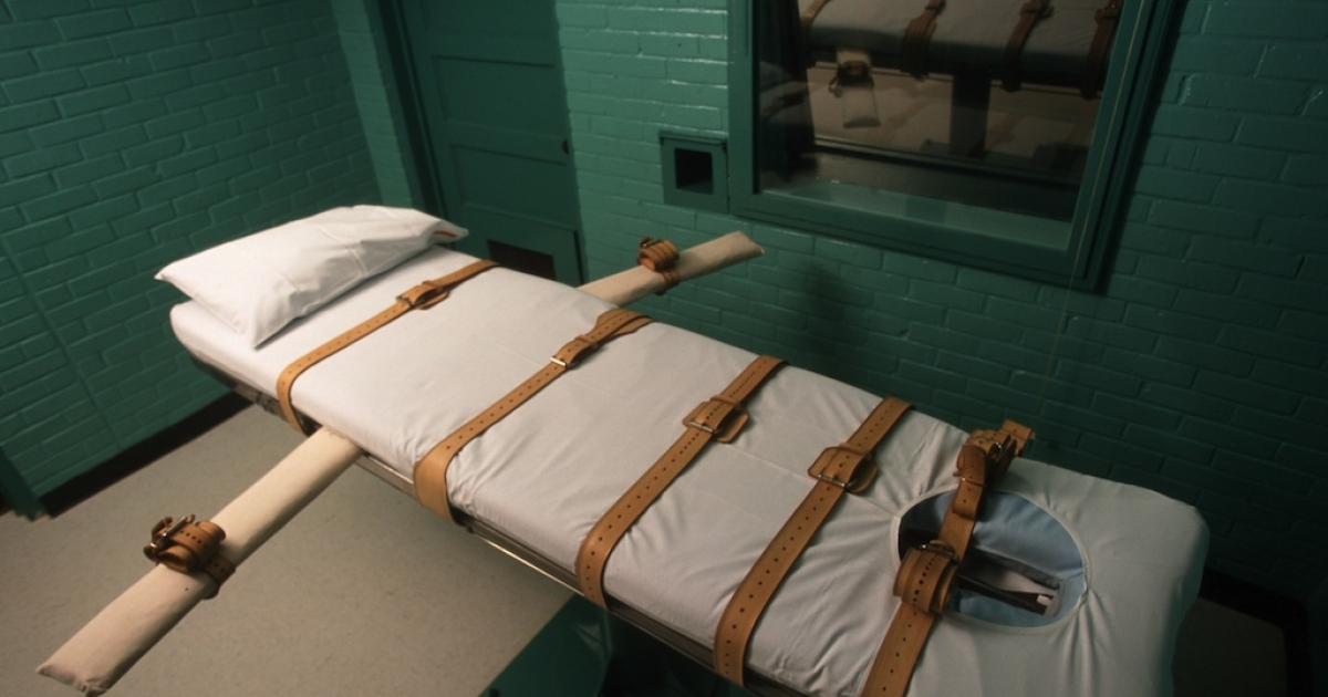 The lethal injection chamber in Huntsville, Texas.</p>