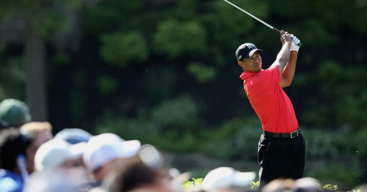 Tiger Woods hits a shot on the during the final round of the Memorial Tournament presented by Nationwide Insurance at Muirfield Village Golf Club on June 3, 2012 in Dublin, Ohio.</p>
