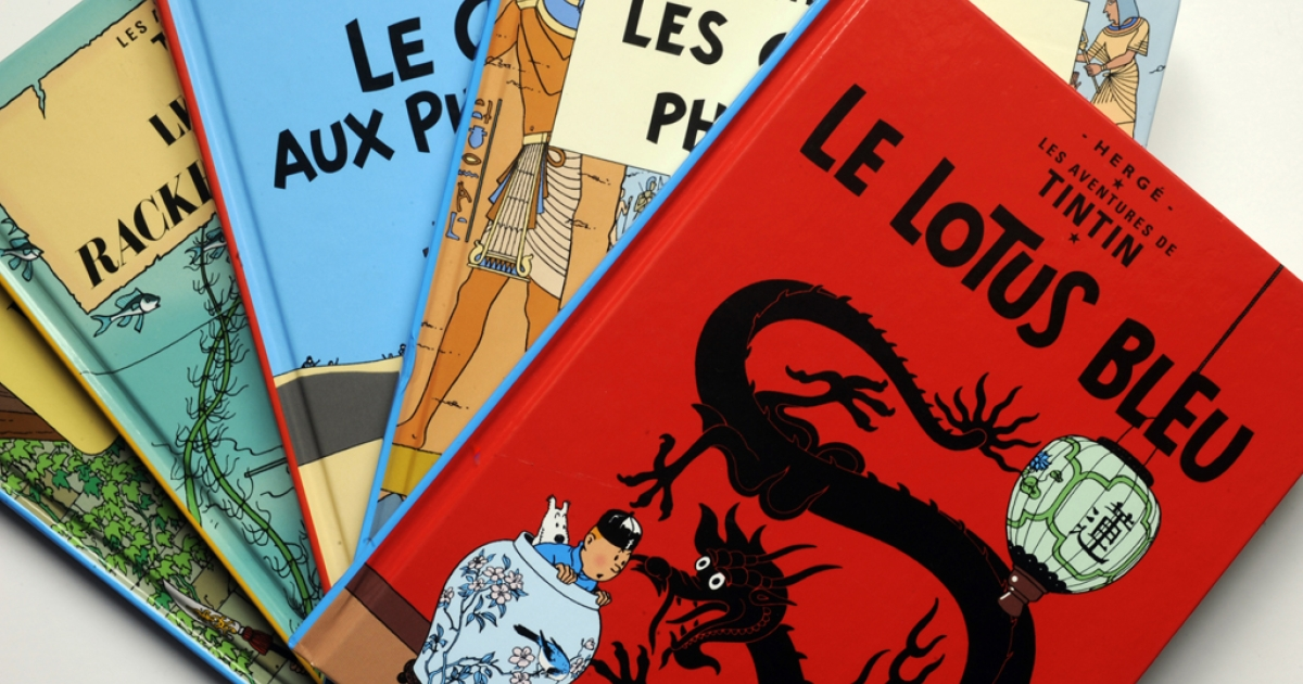 A Belgian court ruled that Tintin's adventure in the Congo was not racist and would not be banned from bookshelves. Several cartoon books featuring legend reporter Tintin, created by Belgian author Georges Remi aka Herge, are seen on October 24, 2010 in Bordeaux.<br />AFP PHOTO JEAN PIERRE MULLER</p>