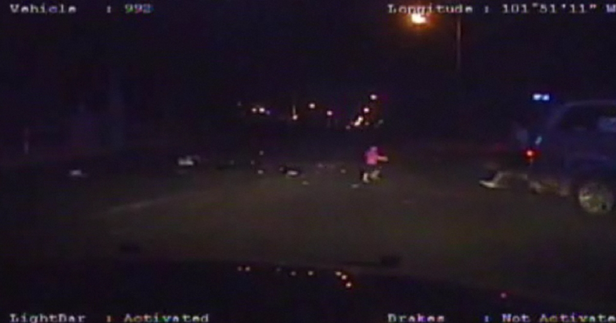 Police video shows an 18-month-old girl running after being ejected from an SUV during a police chase.</p>