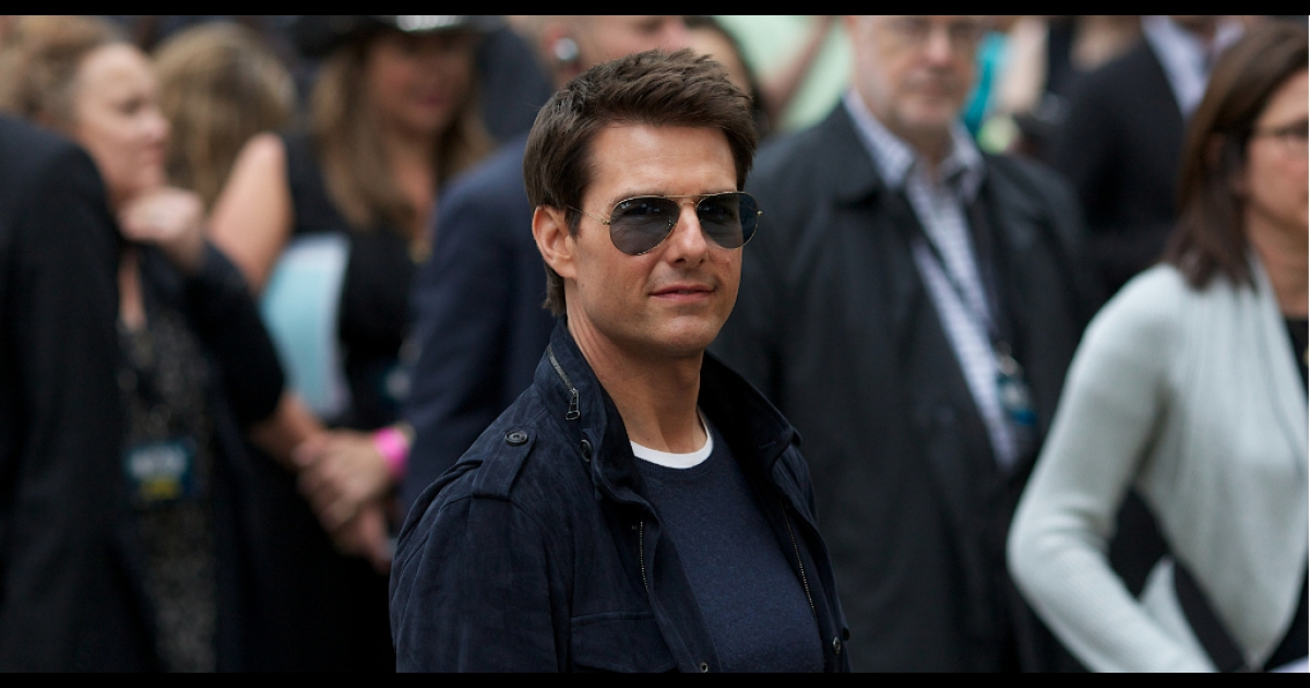 US actor Tom Cruise arrives for the European premiere of the film 'Rock of ages' at the Odeon Cinema in Leicester Square in London, on June 10, 2012.</p>