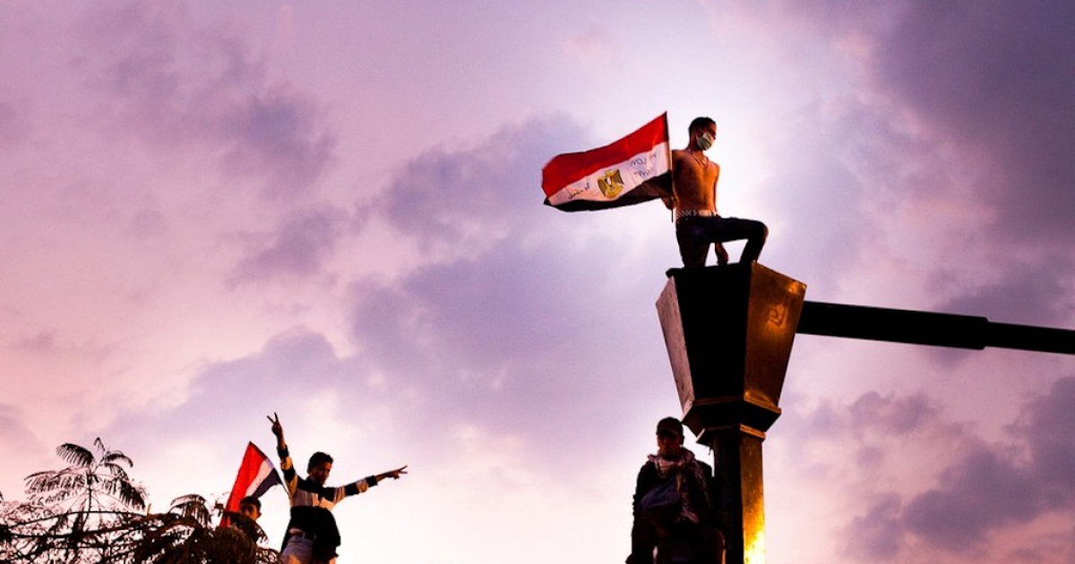 Near Cairo's Tahrir Square. Nov. 21, 2011.</p>