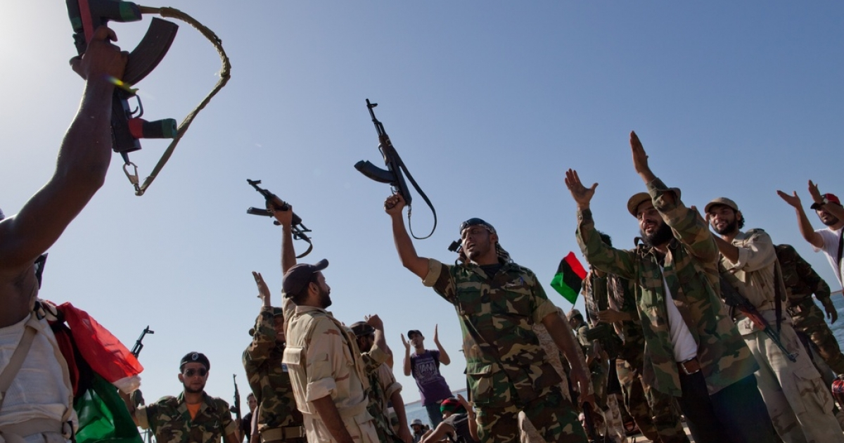 Rebels to Libyans: We won. Now, please stop shooting in the air.</p>