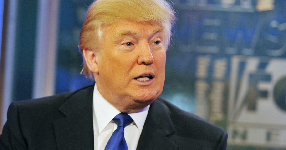 Donald Trump on 'FOX and Friends' at FOX Studios in New York City on Aug. 29, 2011.</p>