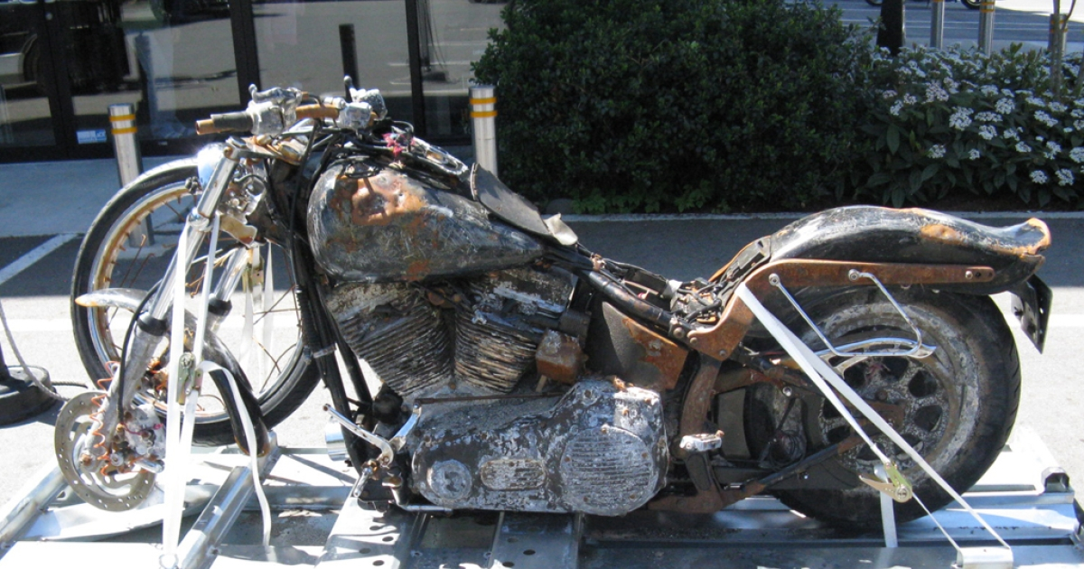 Harley-Davidson is putting a motorcycle lost in the Japanese tsunami, and found 4,000 miles away a year later in Canada, on display at its museum in Milwaukee.</p>