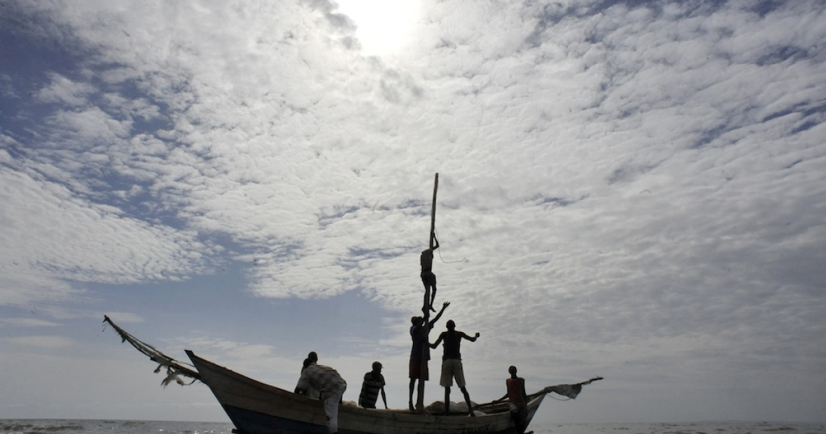 Fishermen in Lake Turkana head out for their daily catch on August 10, 2011.</p>