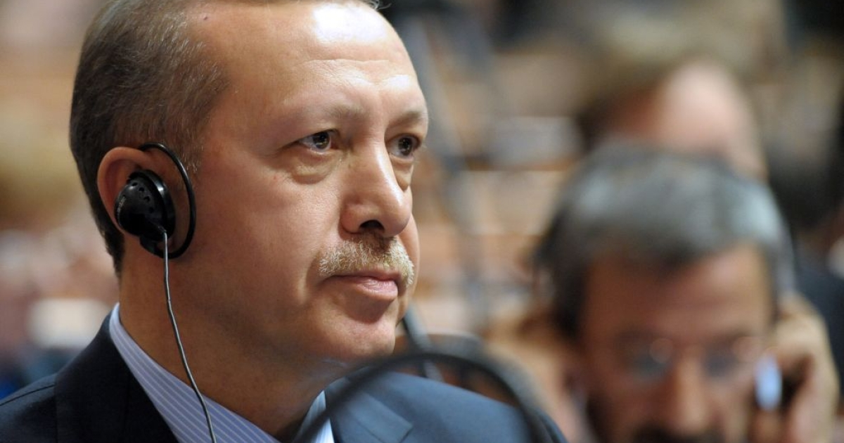 Recep Tayyip Erdogan attends the Council of Europe parliamentary assembly in Strasbourg, eastern France, on April 13, 2011. The European Union said it would re-start talks with Turkey about possible membership into the organization.</p>