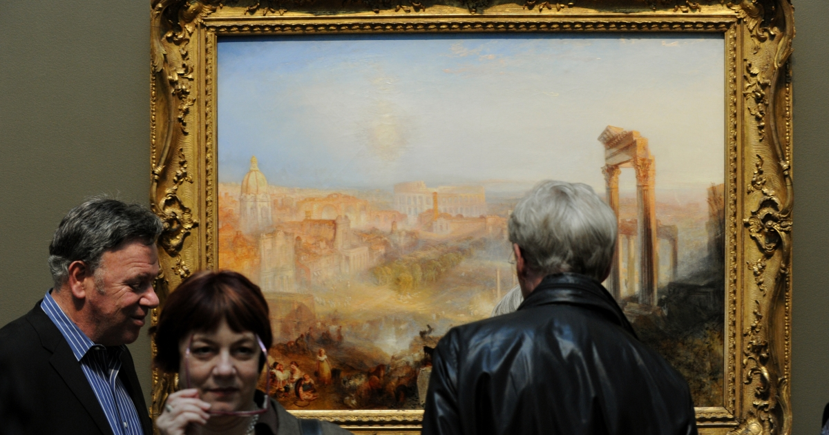 JMW Turner's Modern Rome - Campo Vaccino is a crowd pleaser, and the crowds it will be pleasing are going to be in LA at the Getty Museum.</p>