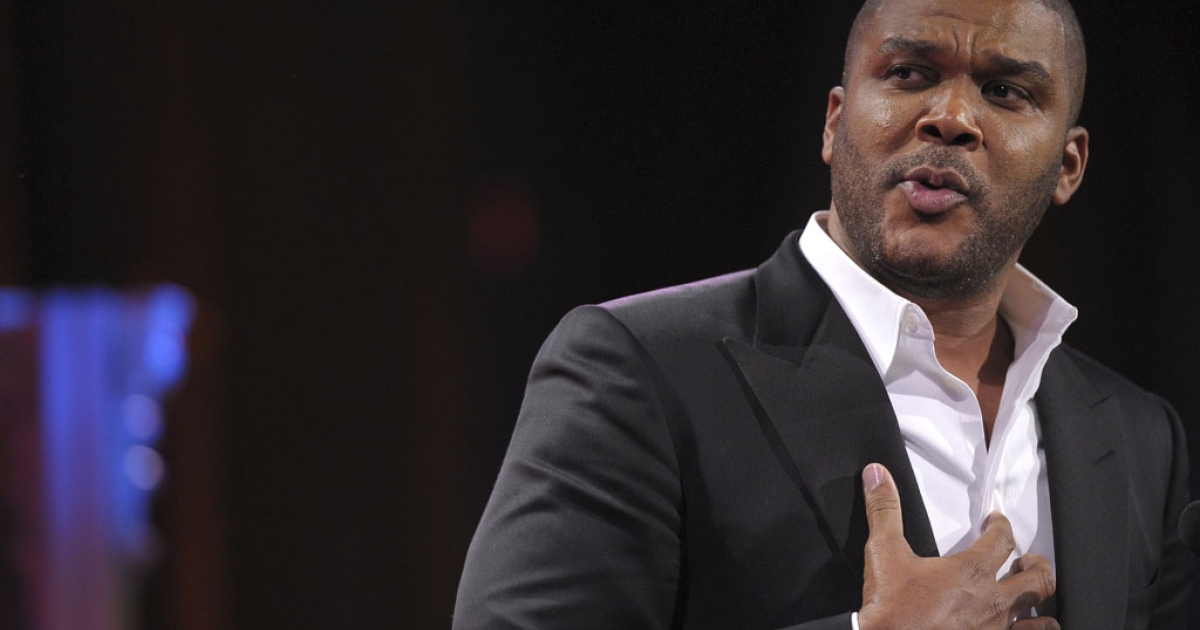 Director Tyler Perry thanked firefighters for saving his studio in Atlanta on Tuesday night.</p>