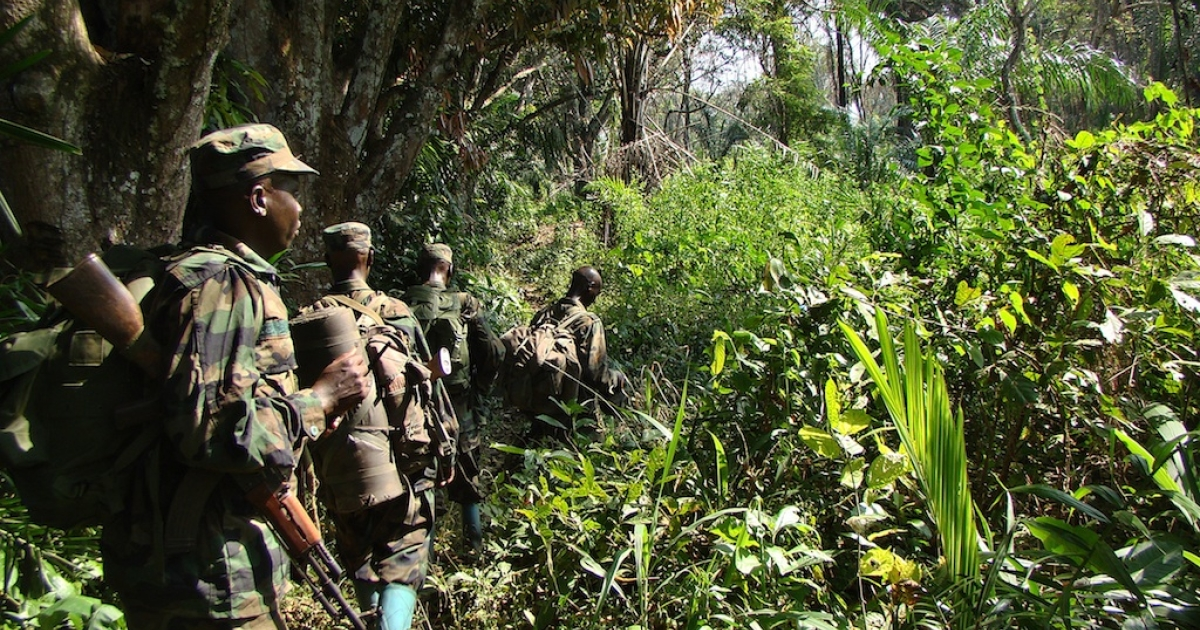 The Ugandan army has done a lot to diminish the fighting power of the Lord's Resistance Army in the region.  This photo taken on Dec. 15, 2010, shows Ugandan soldiers scouring the Congolese jungle, a longtime hideout for renegade Joseph Kony.</p>