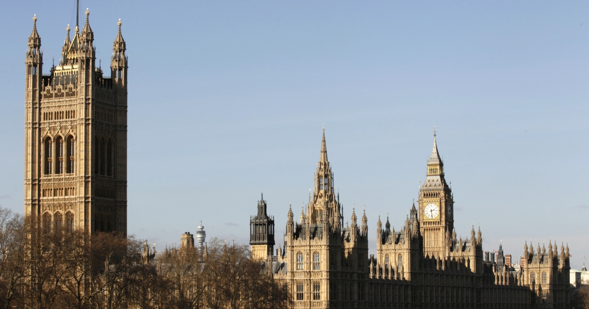 The Houses of Parliament in London.</p>