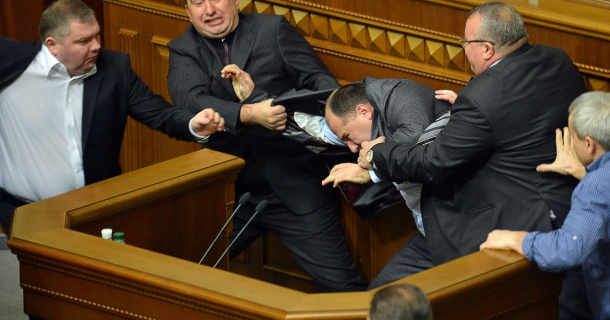 There were chaotic scenes in Ukraine's parliament on its first two days in session, as opposition members fought with the ruling party over who should be the next prime minister and speaker.</p>