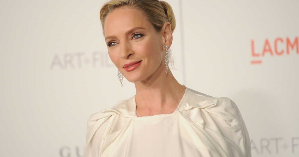 Uma Thurman gave birth to a baby girl in July.</p>