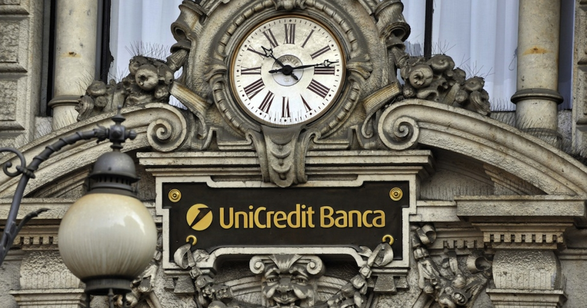 Unicredit is among the 26 Italian lenders downgraded by Moody's today.</p>