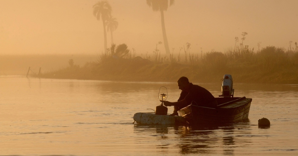 A fisherman in Uruguay.</p>