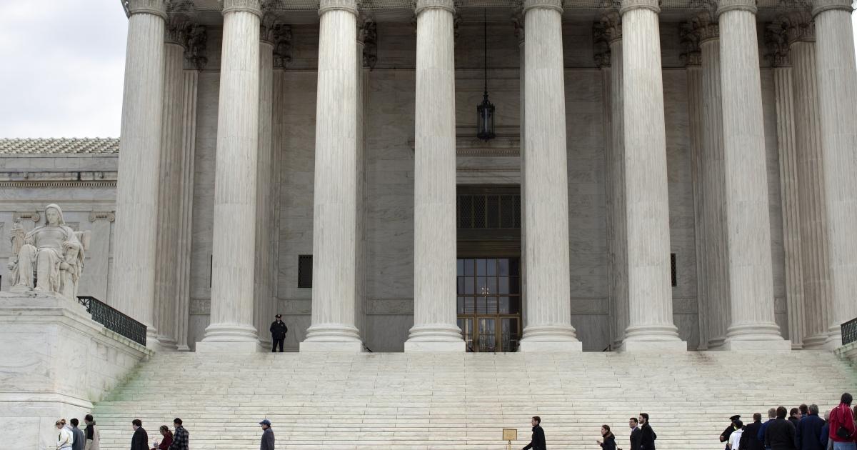 The US Supreme Court building in Washington, DC.</p>