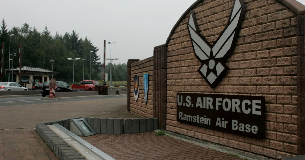 The Ramstein air base in southern Germany is the United States Air Force's European headquarters.</p>