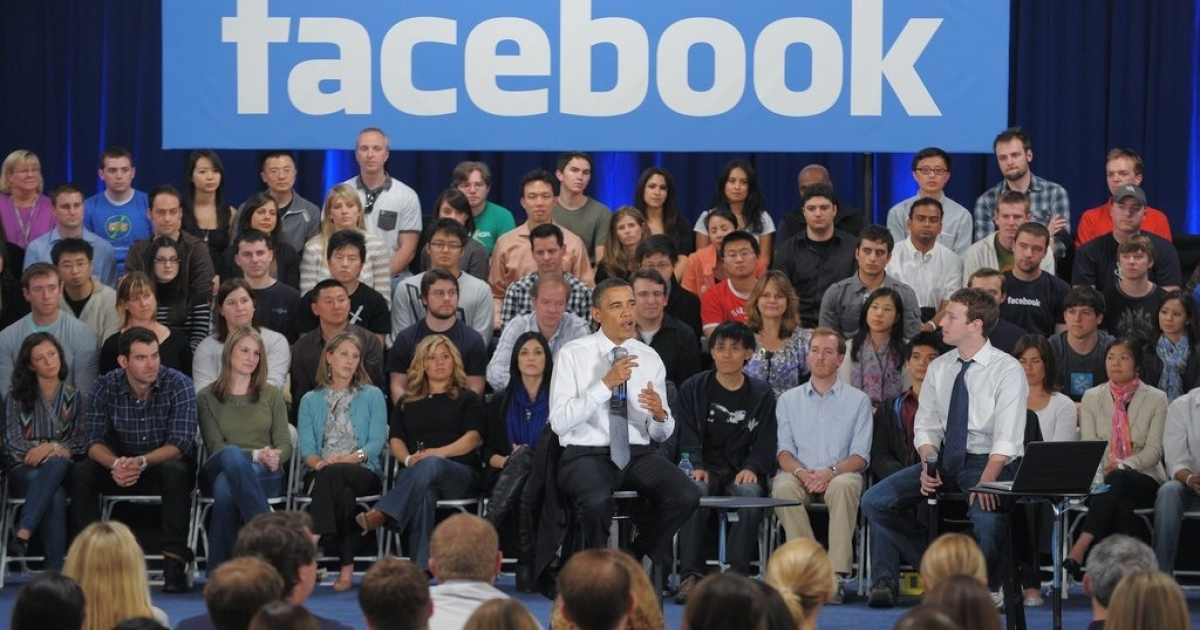 A town hall meeting at the Facebook headquarters in Paolo Alto California earlier this year. Many law enforcement agencies in the U.S. including the FBI, the DEA and ICE are now getting warrants to search Facebook often without the users' knowledge.</p>