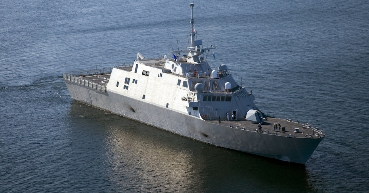 The USS Freedom, the first ship in the Navy's Littoral Combat Ship class, is underway Monday, July 28, 2008. China has now launched its own Littoral ship.</p>