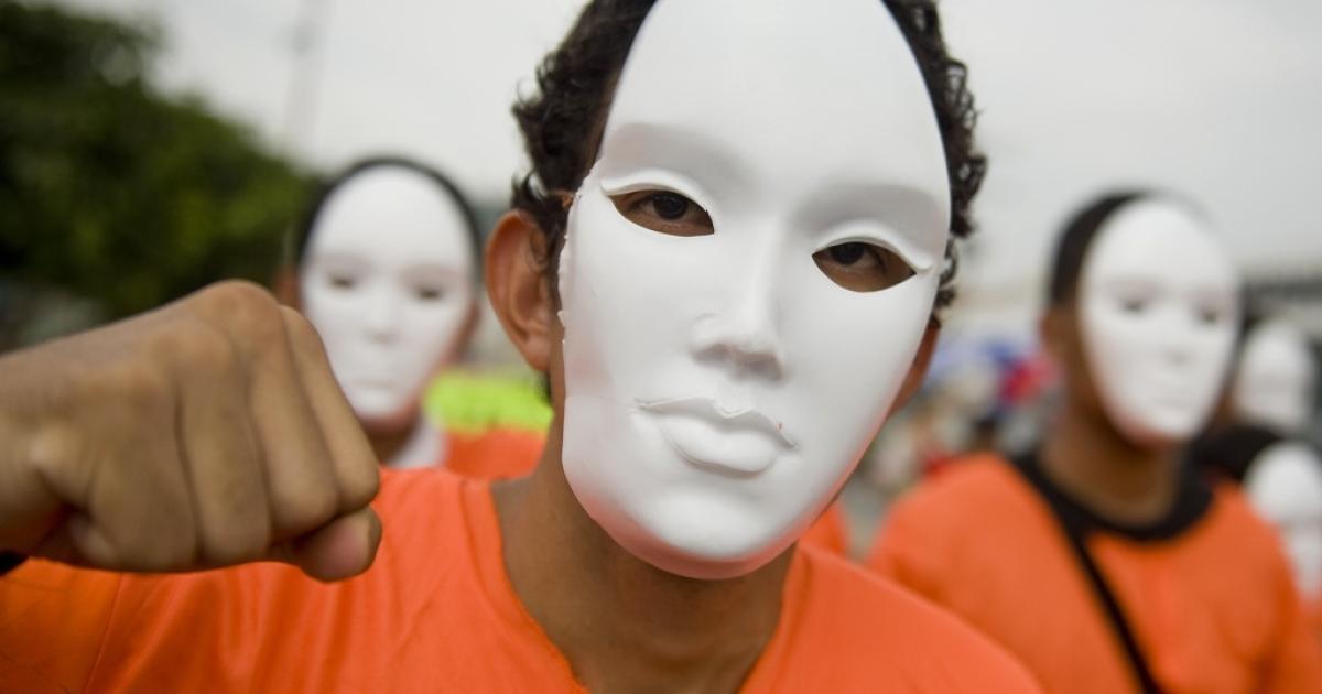 Protesting the detention facility at Guantanamo Bay.</p>
