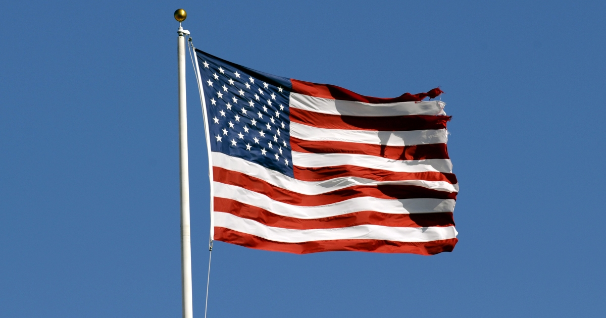 The flag of the United States of America.</p>