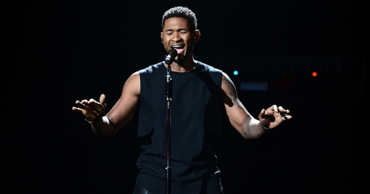 Usher onstage during the 2012 BET Awards at The Shrine Auditorium on July 1, 2012 in Los Angeles, California.</p>