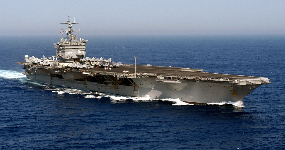 This photo released by the US Navy in 2004 shows the USS Enterprise in the Atlantic during the Summer Pulse 2004 naval exercises.</p>