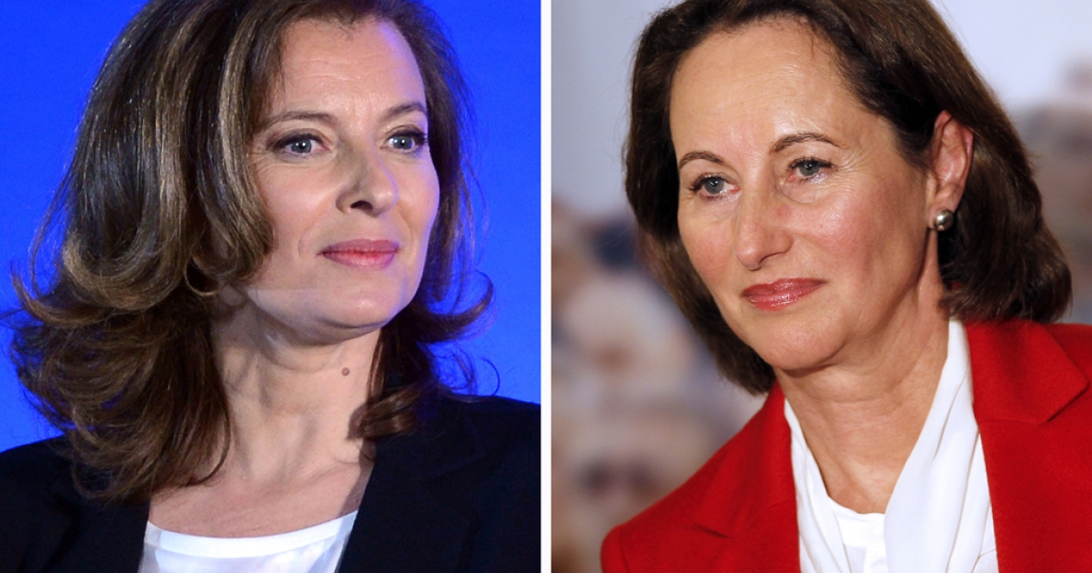 Socialist Party newly elected president Francois Hollande's companion Valerie Trierweiler, and Segolene Royal, candidate for the Socialist Party's 2011 primary vote for France's 2012 presidential election. France's new first lady took a very public swipe at the president's former partner, Segolene Royal, with a good luck tweet sent on June 12, 2012 to the politician standing against her in parliamentary polls. Valerie Trierweiler's message on Twitter also put her at odds with President Francois Hollande, who has declared his full support for Socialist Royal's electoral bid.</p>