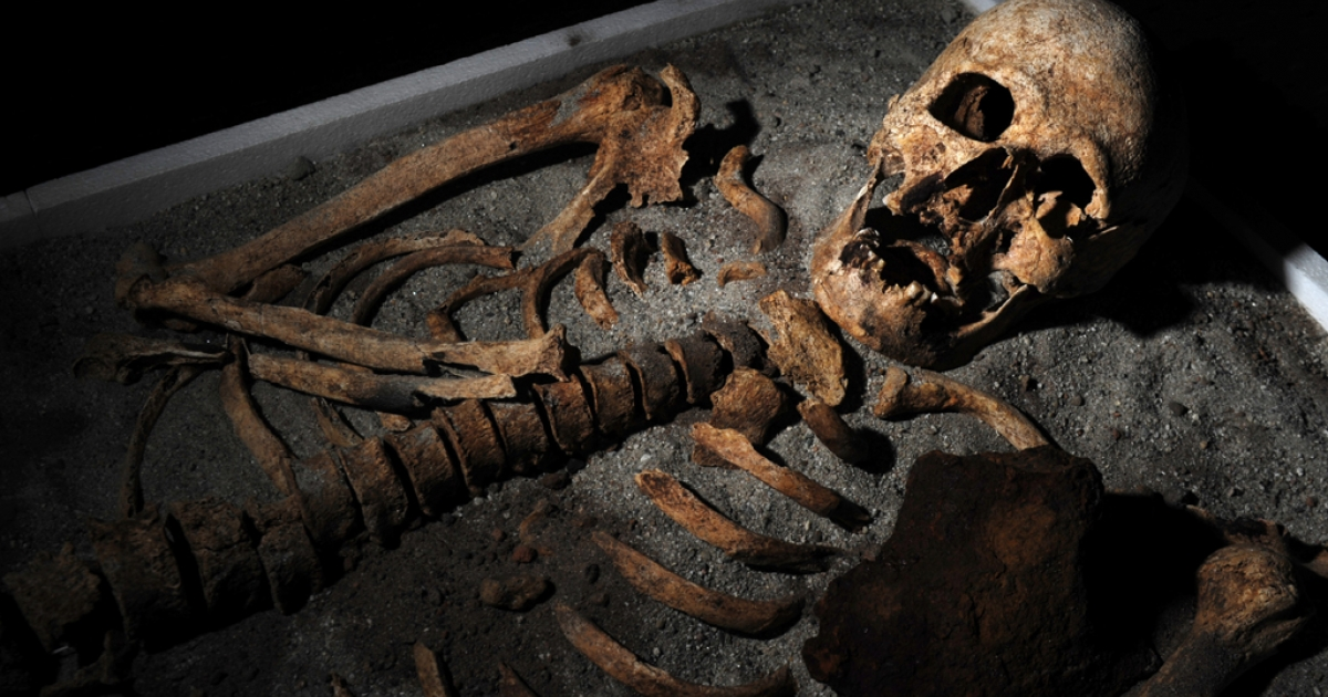 A 700-year-old skeleton, unearthed in the necropol of a church in the Black Sea town of Sozopol earlier in June, was stabbed in the chest with an iron rod and had his teeth pulled before being put to rest. Another, similar skeleton, was found on Sept. 4, 2013, near Sofia.</p>