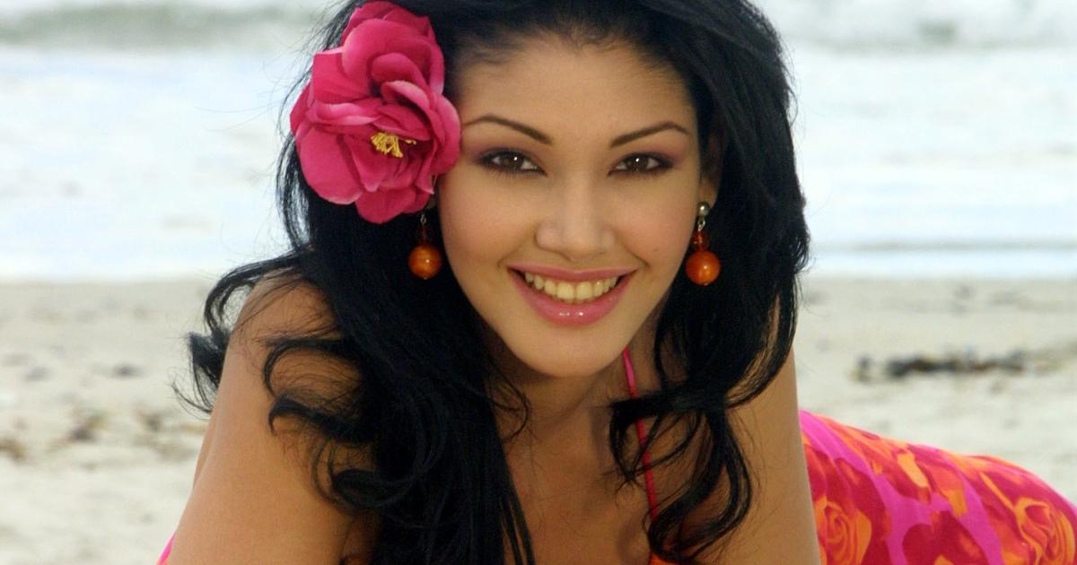 Miss World contestant Venezuala's Andreina Brieto.</p>