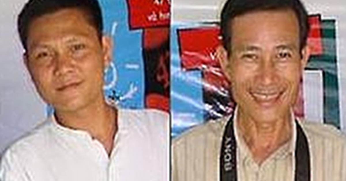 Ta Phong Tan and Nguyen Van Hai. From the Human Rights Watch website.</p>