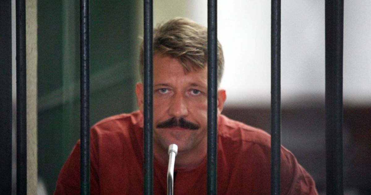 Viktor Bout at Bangkok Supreme Court on July 28, 2008, in Bangkok, Thailand, where he was arrested in a US sting operation.</p>
