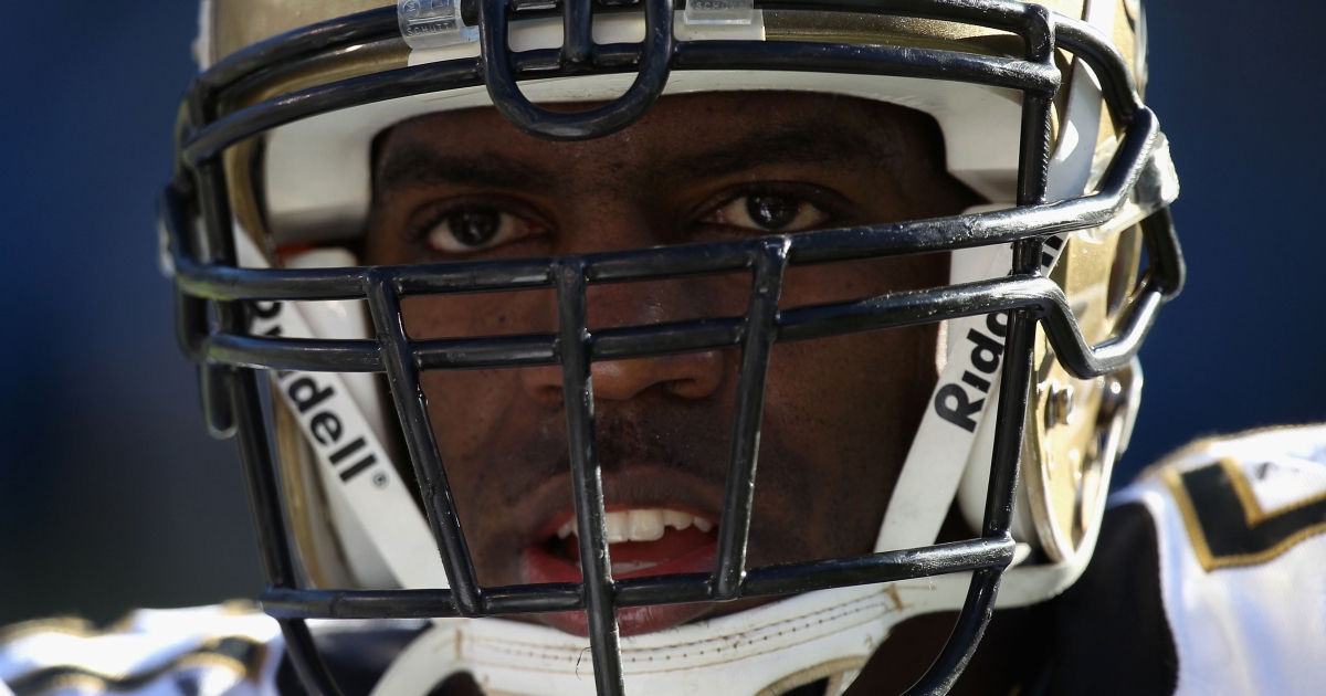 Jonathan Vilma of the New Orleans Saints is seen during the team's game against the Carolina Panthers at Bank of America Stadium on Nov. 7, 2010 in Charlotte, N.C.</p>