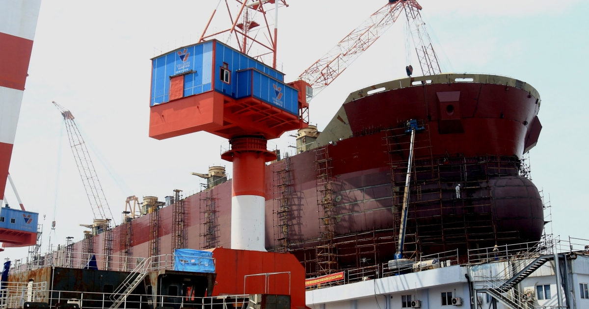 In a bid to create state-owned national champions, Vietnam's communist leadership established Vinashin in 1996, intending it to become on the world's top shipbuilders.</p>