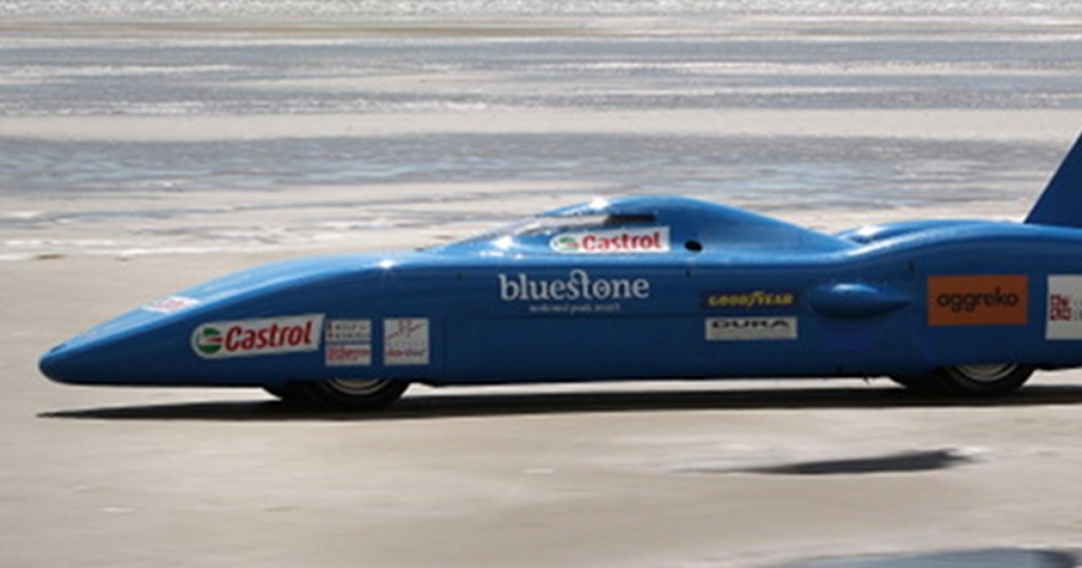 Joe Wales attempts to break the British land speed record in the  Bluebird Electric car on August 14, 2011 in Pendine, Wales. Billions have been spent on the much-hyped electric car, but buyers and drives remain elusive.</p>