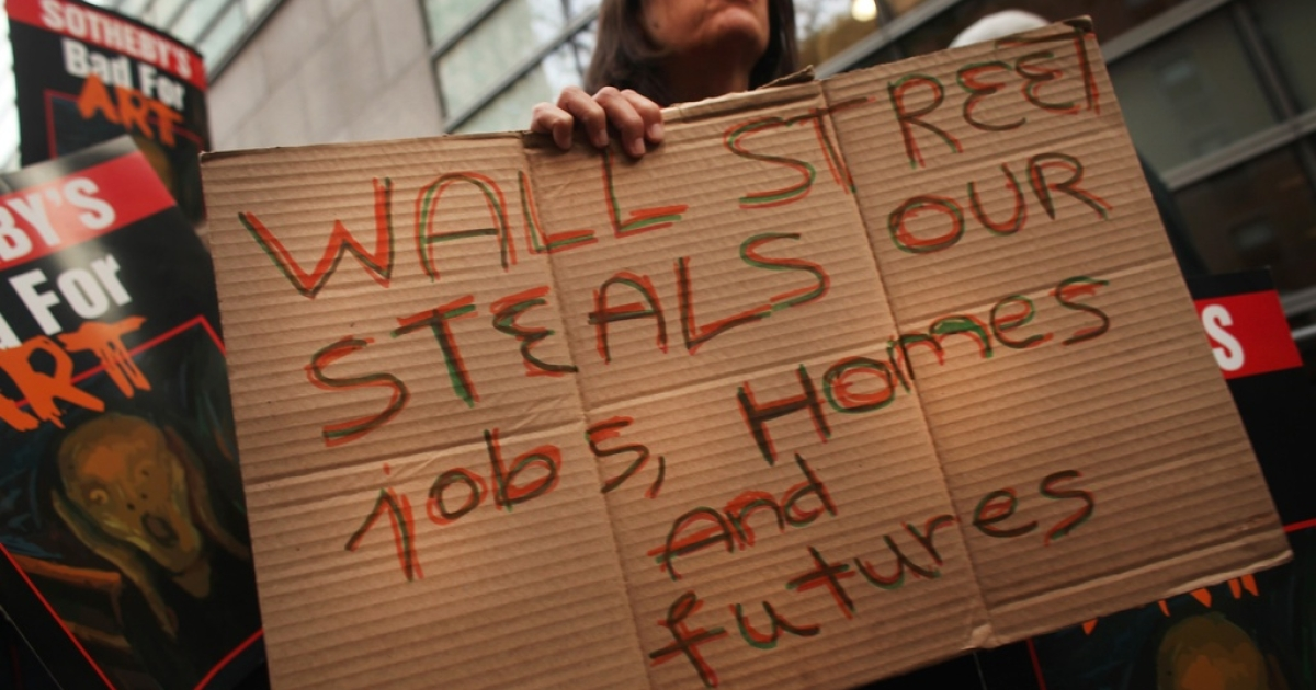 Occupy Wall Street in New York</p>