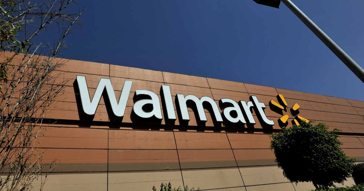 Wal-Mart store signage is seen from the store lot on April 23, 2012 in Mexico City, Mexico.</p>