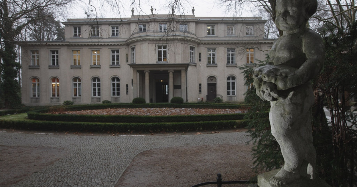 The Villa Marlier on the shores of the Wannsee just outside Berlin.  70 years ago today, the