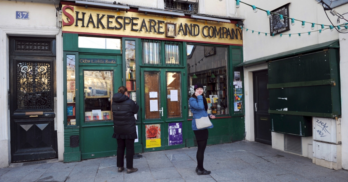 Shakespeare and Company, Paris landmark for generations of Americans.</p>
