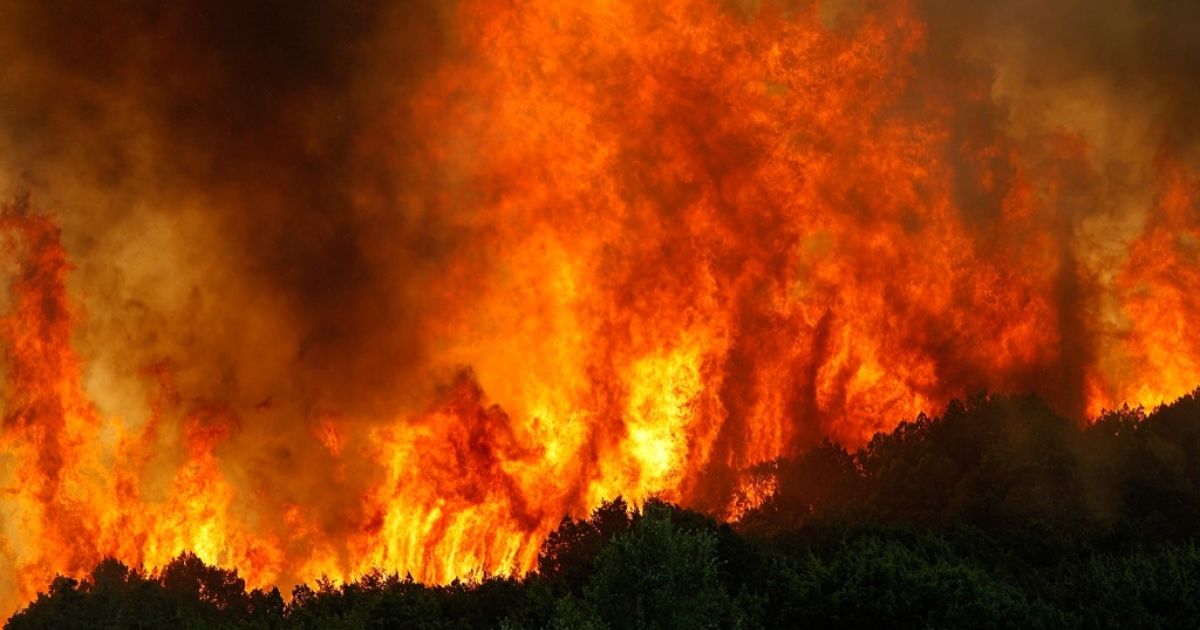 The wildfires raging across Oklahoma have been fuelled by record high temperatures.</p>
