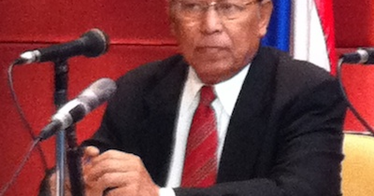 U Win Mra, chairman of the Myanmar's new National Human Rights Commission.</p>